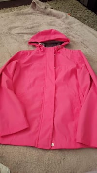 sz small pink rain jacket