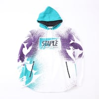 STAPLE PIGEON PATCH CHEST LOGO PULLOVER HOODIE IN