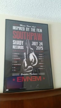 Eminem Autographed Southpaw Poster 24X36 JSA  Kissimmee, 34747