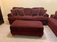Couch, ottoman, and love seat