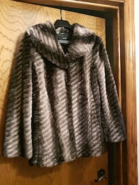 Fake fur coat size medium