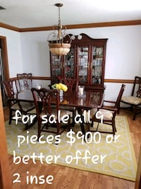 mahogany & cherry dining room set. 6 chairs & 2 insets. will seat 8 pp Norfolk, 23502