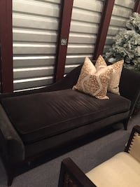 Velvet Upholstered Chaise (Pillows not Included) Washington