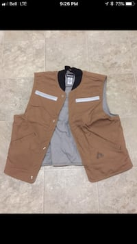 brown and white zip-up jacket Sudbury, P3A 5Y4