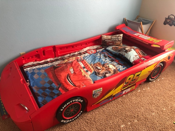 Lightning Mcqueen Bed Originally 250 Only 6 Months Old Working Headlights