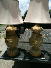 two brown and green table lamps Richmond, 77469