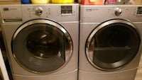 two gray front-load clothes washer and dryer set 790 km