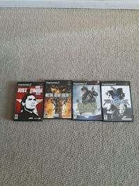 four Sony PS2 games $20 for all Kelowna, V1X 8C5