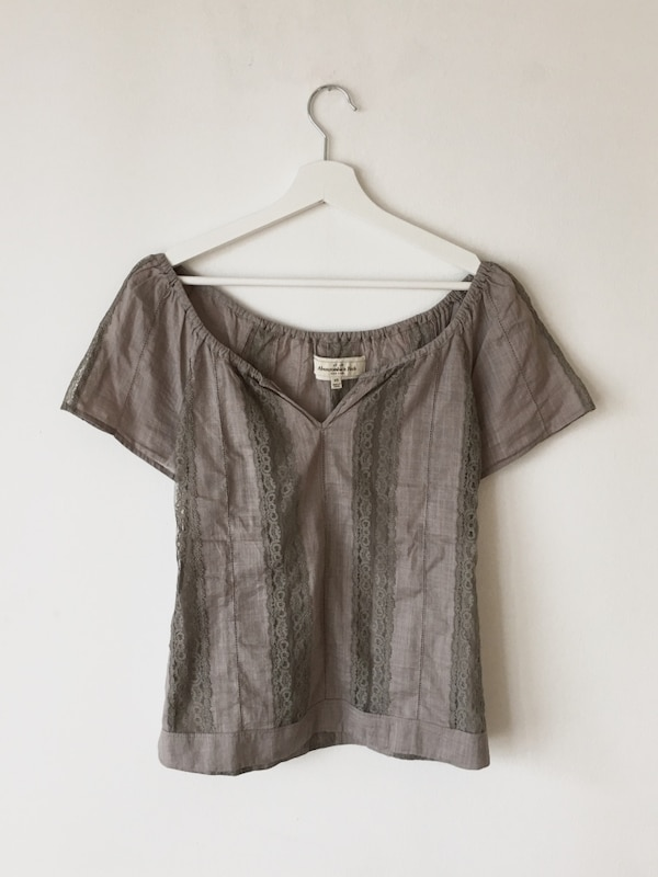 Abercrombie & Fitch Beige Bluse XS