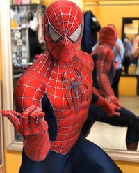 2004 RAIMI Spider-Man Movie-Grade Costume + Faceshell + Musclesuit 温哥华, V5N