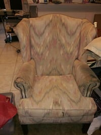 brown and beige floral sofa chair Houston, 77064