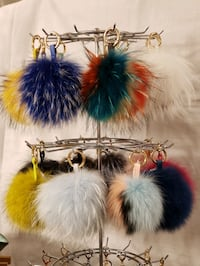 "15cm/6"" Genuine Fox Fur Pom Pom Keychain $18 Each Woodbridge, 22193"
