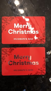 HBC/ home outfitters gift cards $1000.00 for 800