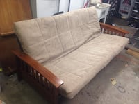Full size futon bed couch w/ wood arms Gladstone, 64119