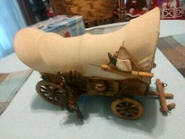 Antique Western covered wagon