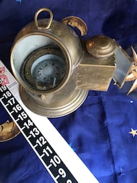 ANTIQUE!!  Brass Gyroscoping Nautical Mariner's COMPASS w/Oil  Lamp only $50/firm Redlands, 92374