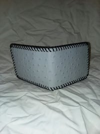 (Handmade by me)NEW imt. (gray)Ostrich Wallet Alba, 75410