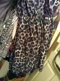 women's black and brown leopard print dress Centre, 35960