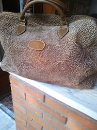 tote bag in pelle marrone e bianca Roma, 00172