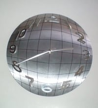 Kirch Wall Clock Silver Metal Chrome World Globe Design London