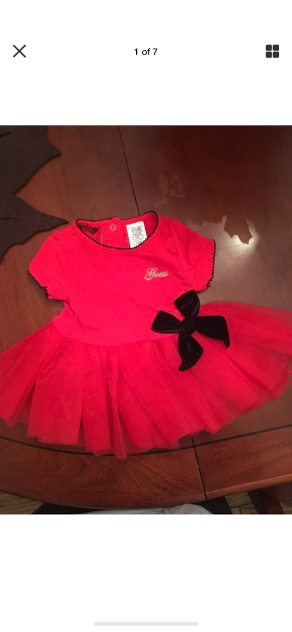 66811daf3d68e Used Red baby guess shirt dress for sale in Central Islip - letgo