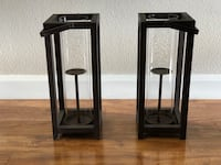 two black wooden wall mount racks Irvine, 92603
