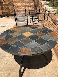 Stone Table and 4 chairs (matching set)