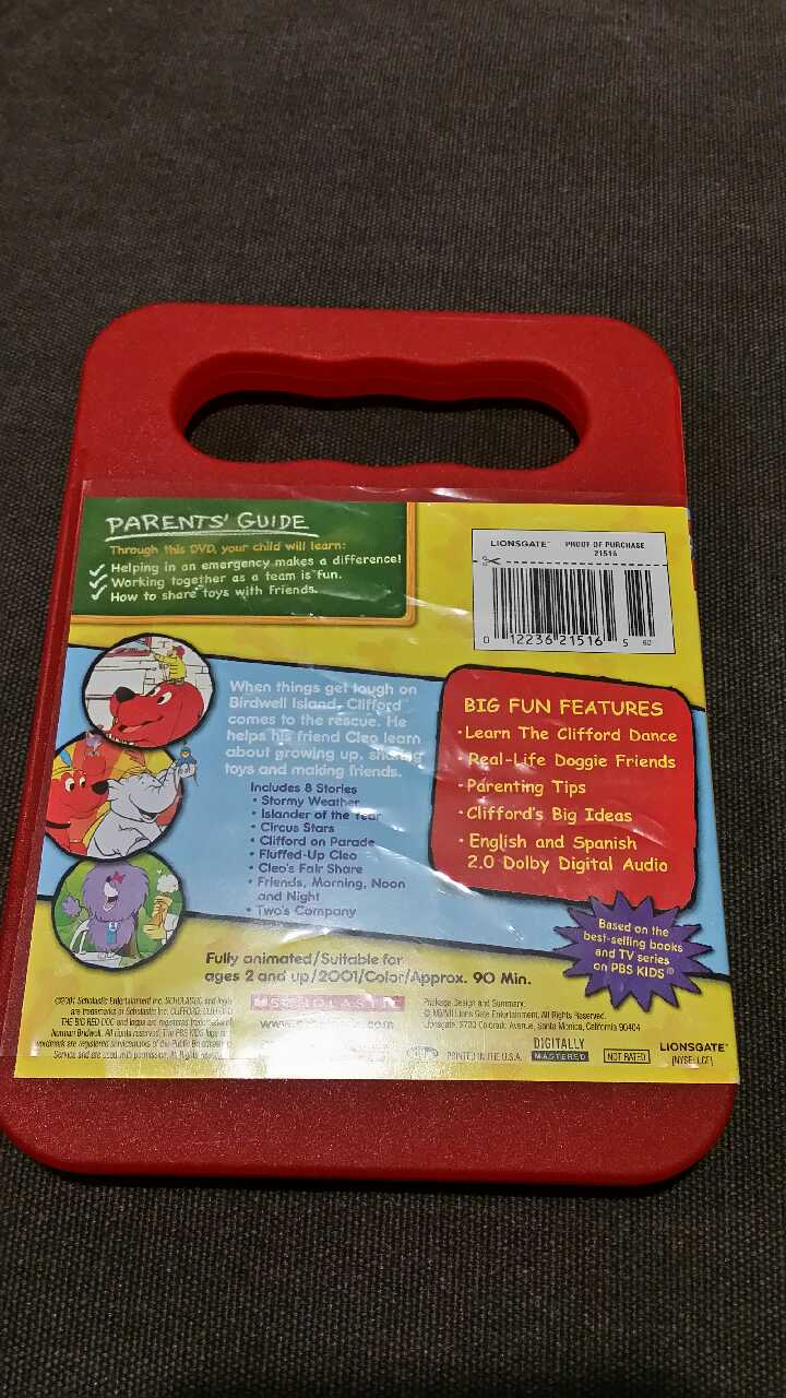 Photo Clifford Big Red Dog DVD- Clifford Saves the Day