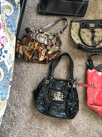two brown and black leather handbags Lorena, 76655