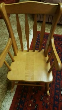 Yellow  and brown wooden rocking chair London, N6J 4W9
