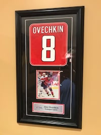 Framed photo of Alexander Ovechkin