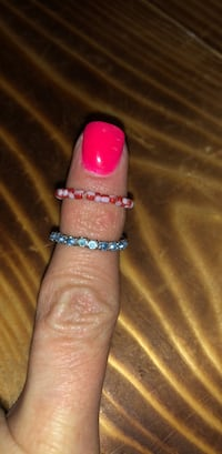 Light blue and red and white stretchy rings San Angelo, 76903