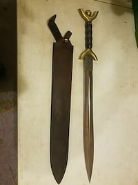 black and gold sword with scabbard 73 km