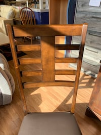 New Pair Of Dark Wood Chairs W/ Leather Seats  Virginia Beach, 23462