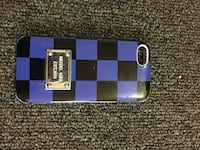 Blue and Black Checked iPhone 5S Case Fairbanks, 99701