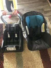 Baby's black and blue car seat carrier Abbotsford, V2T 5S4