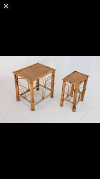 Vintage Bamboo Tables - Set of 2 Pearland, 77581