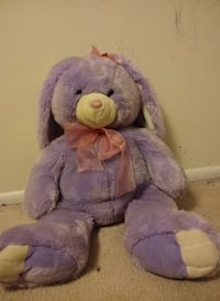 Medium Sized Purple Stuffed Bunny SALTLAKECITY