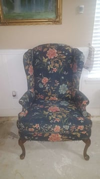 black and red floral fabric sofa chair Katy, 77449