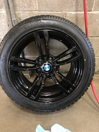 "BRAND NEW 5x120 BMW BLACK 17"" WINTER TIRES AND RIMS Aurora, L4G 1N3"