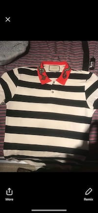 white and black striped polo shirt Chestermere, T1X 0P8