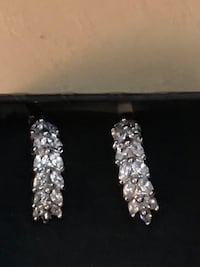 Crystal Earrings White sapphire  magical enchanted elegant channel inspired. Magically blessed white sapphires  Frederick