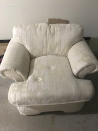white and gray fabric sofa chair Herndon