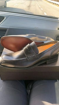 pair of brown leather loafers with box Washington, 20001