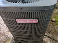 black and gray Goodman outdoor AC unit Little Ferry, 07643