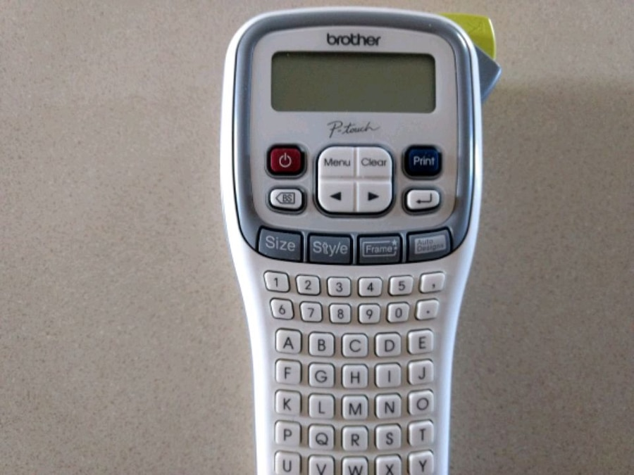 Photo Brother P-Touch label maker