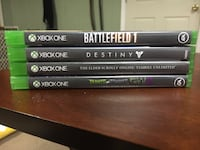 Four xbox one game cases Jemison, 35085