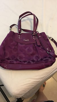 Coach Purse Purple