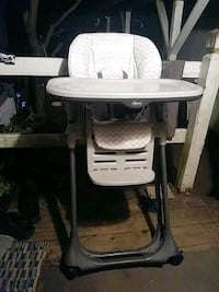 white and gray high chair Chesapeake, 23323