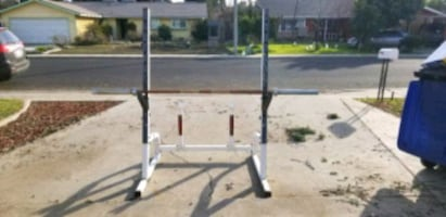 Weider Pro weight rack with Olympic bar and 175 lbs Olympic weights